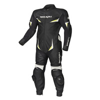 KERAKOLL One piece Motorcycle Racing Suit Genuine Leather Cowhide Motorbike Breathable Motocross Clothes with Protector Sliders