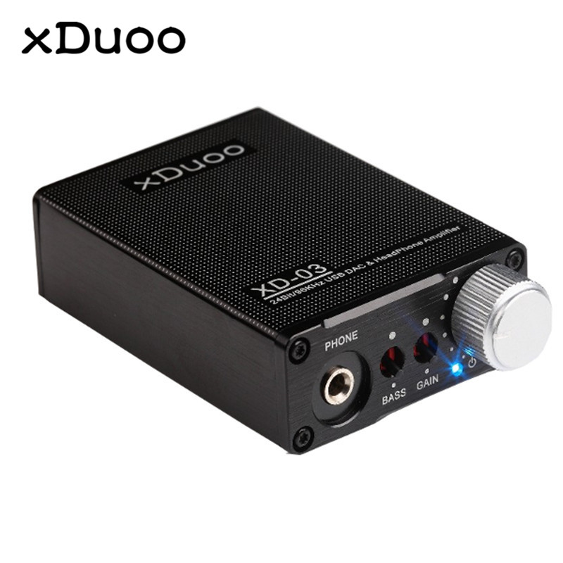 Original XDUOO XD 03 24Bit/94Khz USB DAC Headphone Amplifier High Performance Portable Universal Amplifier original xduoo ta 20 high performance balanced tube headphone amplifier power amplifier