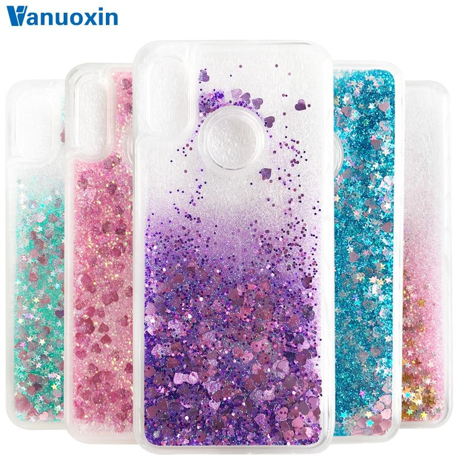 Honor 8C case on Huawei Honor 8C case Glitter Dynamic Liquid Back