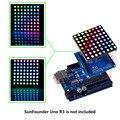 Sunfoader 8x8 полноцветный RGB СВЕТОДИОДНЫЙ Драйвер матрицы щит + rgb-матрица экран для Arduino
