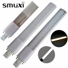 Smuxi G23 LED Light Bulb 4W 6W 8W SMD2835 Ultra-thin 2 Pin Base Energy Saving LED Lamp Tube Decor Lighting AC85-265V(China)