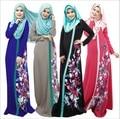 2015 Мусульманин абая платье для женщин Исламского платья дубай кафтан Исламская одежда Мусульманская абая Платье турецкий джилбаба хиджаб 401