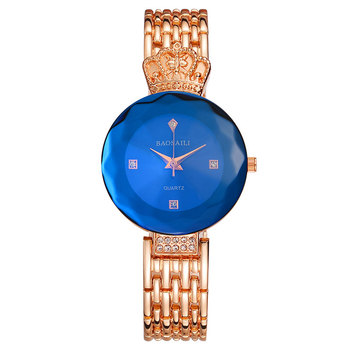 BAOSAILI Brand Sapphire Women Watches Famous Dress Rose GoldWatches Stainless Steel Crown Luxury Ladies Quartz Watch - discount item  52% OFF Women's Watches