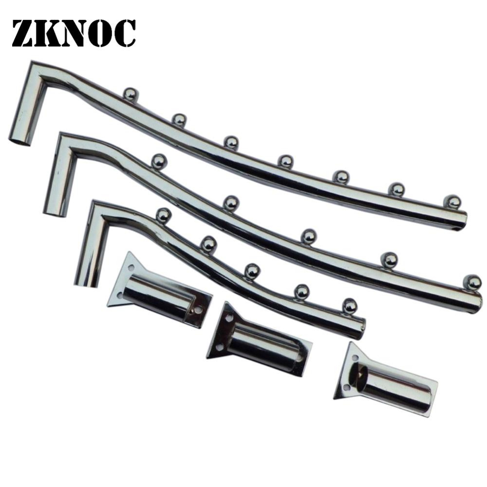 ZKNOC Clothes Hanger Hook Wall Mount Swing Arm Stainless