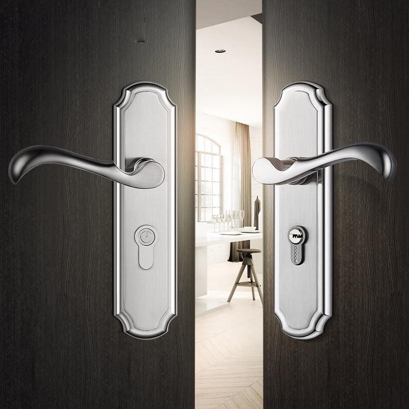 OSPON Zinc Alloy Door Lock Double Door Modern Minimalist