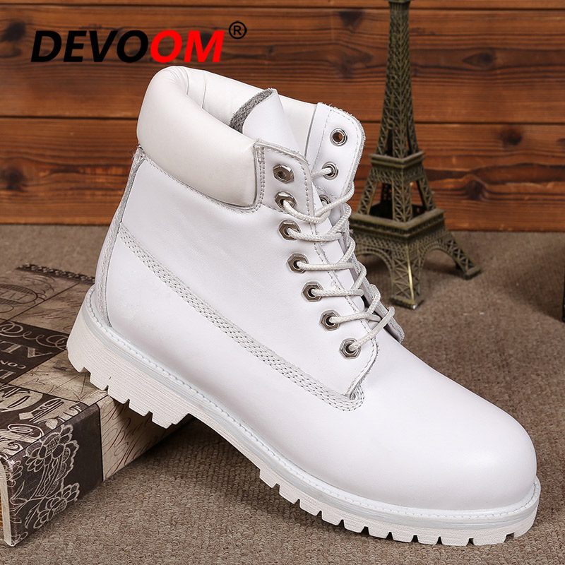Back To Search Resultsshoes Fashion White Boots Men 2018 Men Genuine Dr Leather Boots Footwear Snow Boots Men Winter Shoes Real Leather Fur Unisex Sneakers Men's Shoes