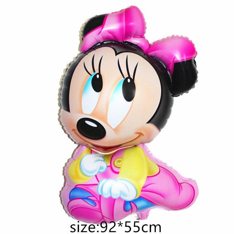 Воздушные шары из фольги для маленьких мальчиков, воздушные шары для детской коляски, шары для девочек на день рождения, надувные вечерние украшения, Детская мультяшная шапка - Цвет: 6