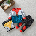 2016 Boys Clothing Set Character Fox Long Sleeve Top +Pants Girls Set Cotton O-neck Toddler Boys Clothing for Autumn