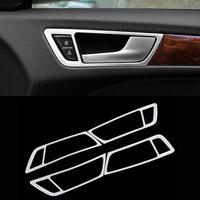 Car Styling 4pcs/set Stainless Steel Car Inner door Handle Box Sequins For Audi Q5 2013-2016 Car Accessories Decoration Sequins
