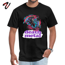 Death Metal Unicorn Tops & Tees Faddish Crew Neck Printed On Short Glory Rap Male T Shirt Summer T-shirts glory in death