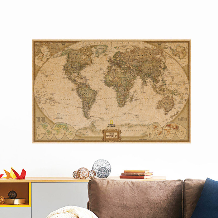 μεγάλος κόσμος Γεωγραφία χάρτης - Διακόσμηση σπιτιού - Φωτογραφία 5
