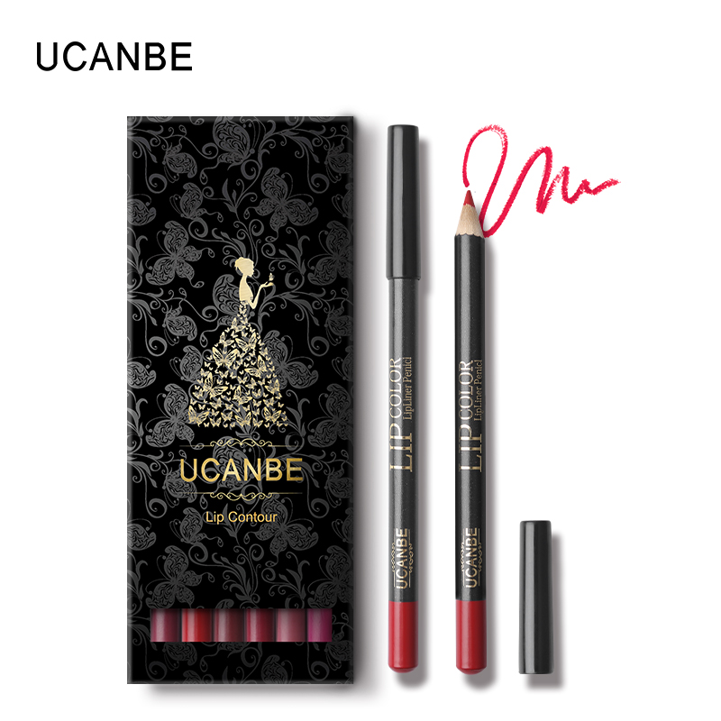 UCANBE Brand 12pcs/lot Matte Lip Liner Makeup Pencil Set Soft Pigmented Waterproof Natural Shaping Lips Liner Stick Cosmetic Pen 2