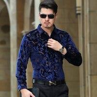 HETOBETO New Fashion Casual Men Shirt Long Sleeve Europe Style Slim Fit Shirt Men High Quality Cotton Floral Shirts Mens Clothes