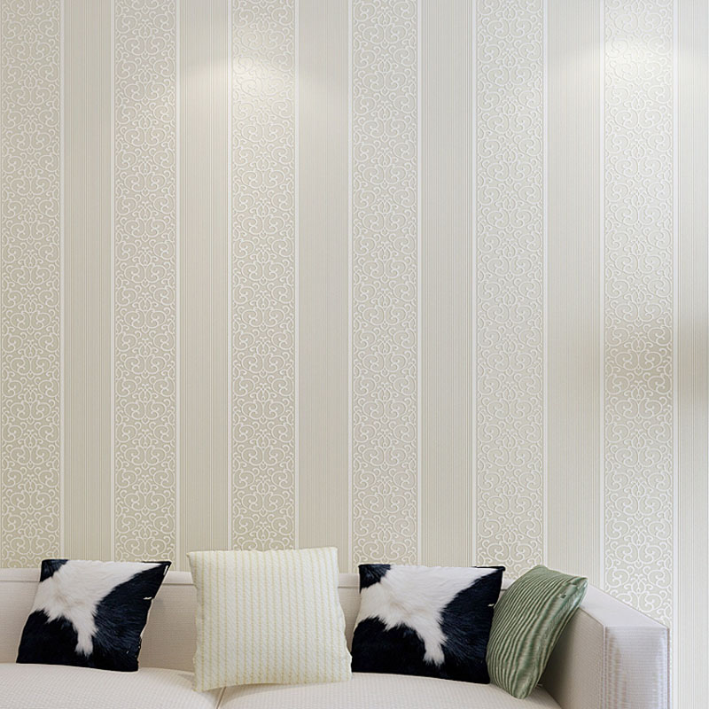 3D Effect 10M Home Improvement Wallpaper Modern Fashion Non-woven Flocking Wallpaper For Bedroom Background Wall  WP16035