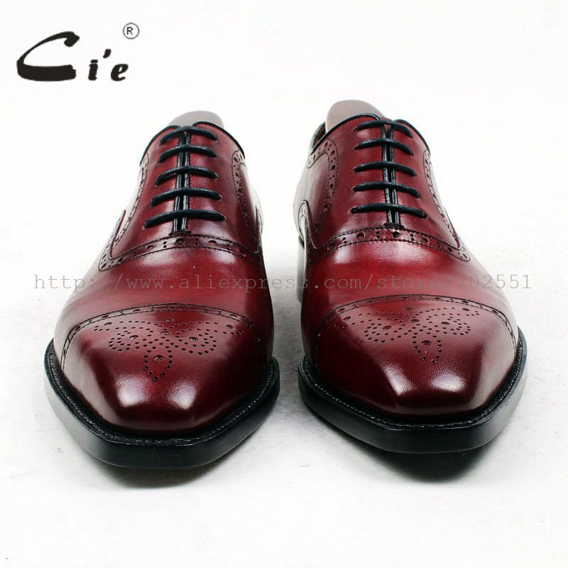 cie Square Toe Custom Bespoke Men 39 s Shoe Handmade GOODYEAR Welted Full Grain Leather Men 39 s Oxford Shoe Patina Deep Wine OX428 in Oxfords from Shoes