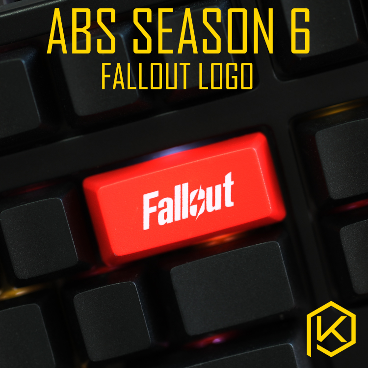 Novelty Shine Through Keycaps ABS Etched, Shine-Through Backspace Enter Fallout Logo Black Red Custom Mechanical Keyboards