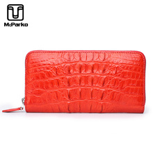 McParko Women Wallet Genuine leather Crocodile Clutch Wallet Luxury Long Zipper Phone Wallet For Female Fashion Lady Gift Purse джоанна линдсей captive of my desires