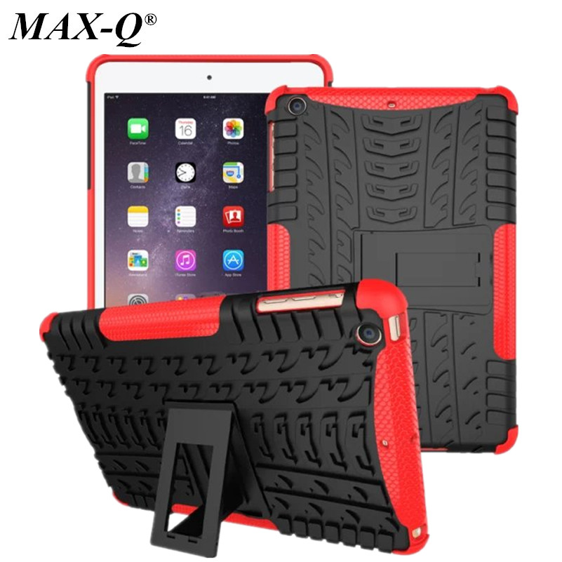 MAX-Q Heavy duty Defender Armor Plastic + TPU Case Cover For Apple iPad mini 1 2 3 Tablet Shockproof Case free Screen protector