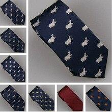 LAMMULIN Галстуки 11 видов стилей мужской костюм животный узор жаккардовый галстук синий, темно-синий микрофибра тонкий галстук 7 см Высокое качество Gravat