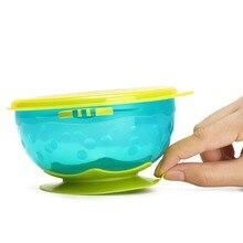 Safe Tableware Dinnerware Suction Bowl Anti-scalding Non-slip Bowel Baby Dinner Feeding Bowls Dishes for Kids Newborn 3pcs