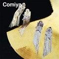 Comiya украшения для тела мода цинковый сплав звезды подвески металлической цепью кистями подвески мотаться серьги духи feminino падение серьги
