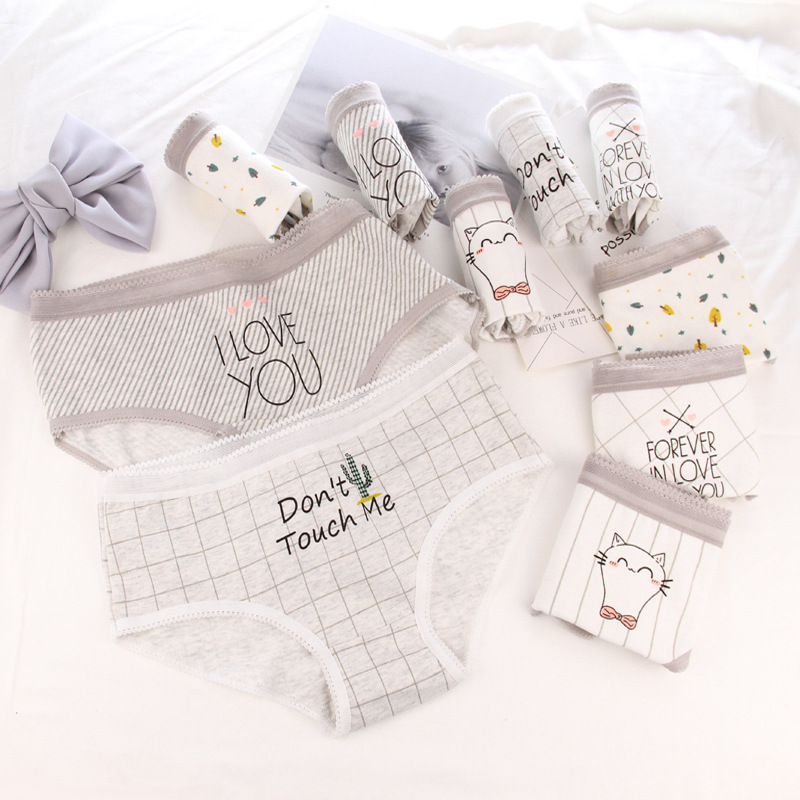 Teenage Panties Cartoon Printed Girls Underwear Casual Teenage Girls Underpants Cute Kids Briefs Cotton Panties For 12-20Y