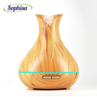 Sophisa 400ml Aroma Essential Oil Diffuser Ultrasonic Air Humidifier 7 Color Changing LED Lights Difusor De