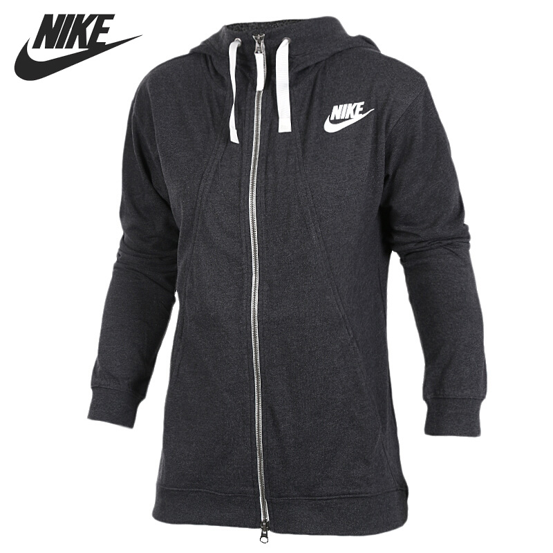 Original New Arrival NIKE AS W NSW GYM CLC HOODIE FZ Women's Jacket Hooded Sportswear nike w nsw gym vtng drss ss
