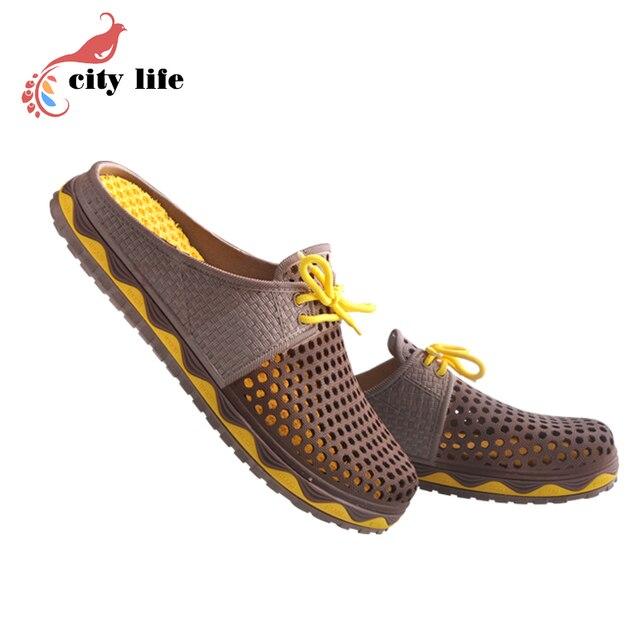2afa830d1ec30 US $19.99 |Man Woman 2017 New Hole Garden Cloges Shoes Plus Size Summer Net  Flats Beach Sandals Mules Slippers Size 40 41 42 43 44 45 on ...