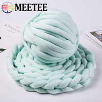 Meetee 1pc 500g Core Cotton Line Chunky Yarn DIY Blanket Cushion Coarse Scarf Yarn Bulky Arm Roving Knit Blanket Hand Knitting