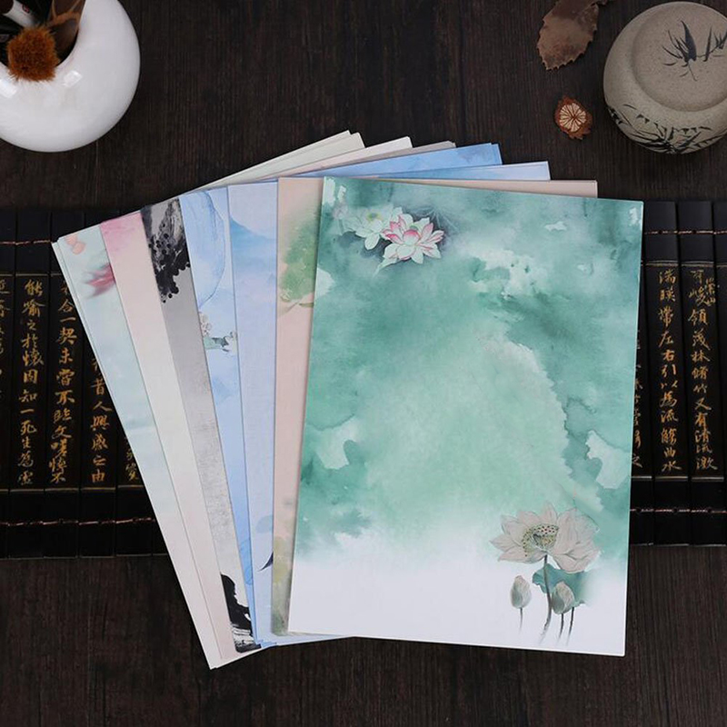 56pcs Vintage Design Writing Stationery Paper Set, 7 Different Style