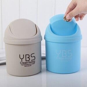 1pc Mini Table Dustbin Sundries Car Garbage Can Desktop Trash Can Garbage Dust Case Holder Bin Trash Can Ash-bin(China)