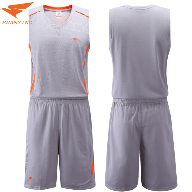 44aba855a New Mens Blank Basketball Jersey Adults Sports Shirt and Shorts Set Team  Uniform Training Running Breathable Clothes Plus Size