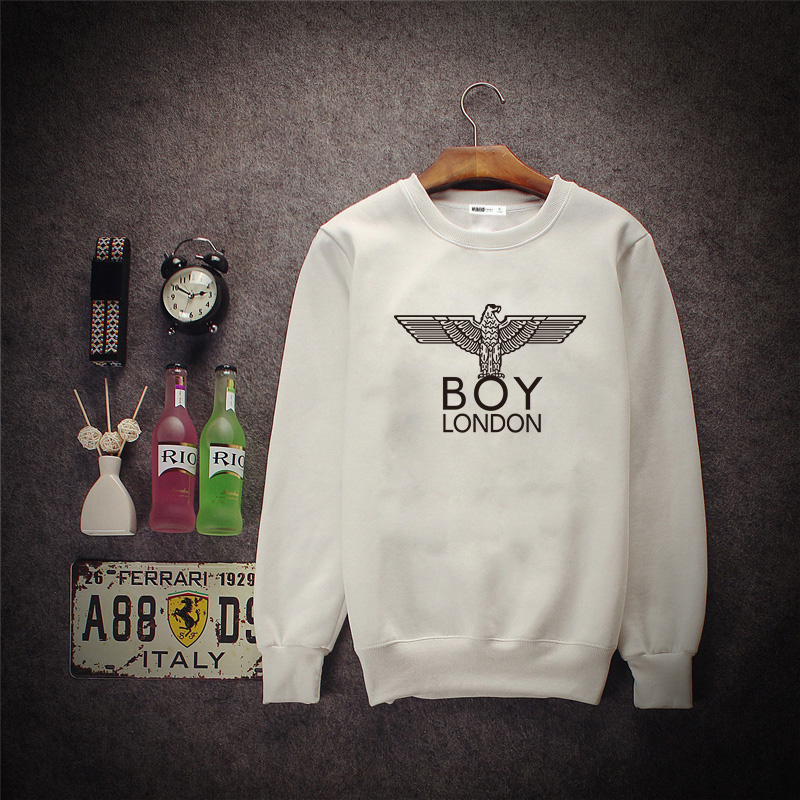 Boy London Letter Hoodies 2016 Spring Autumn Tide Brand Pullover Sweatshirts For Male Brief Casual Korean Version Men Clothing