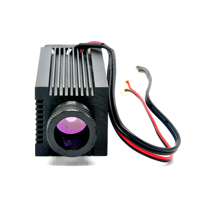 33mmx80mm Focusable Aluminium C-Mount Infrared Laser Diode DIY Housing/Case/Host W/ Cooling Fan & Glass Lens