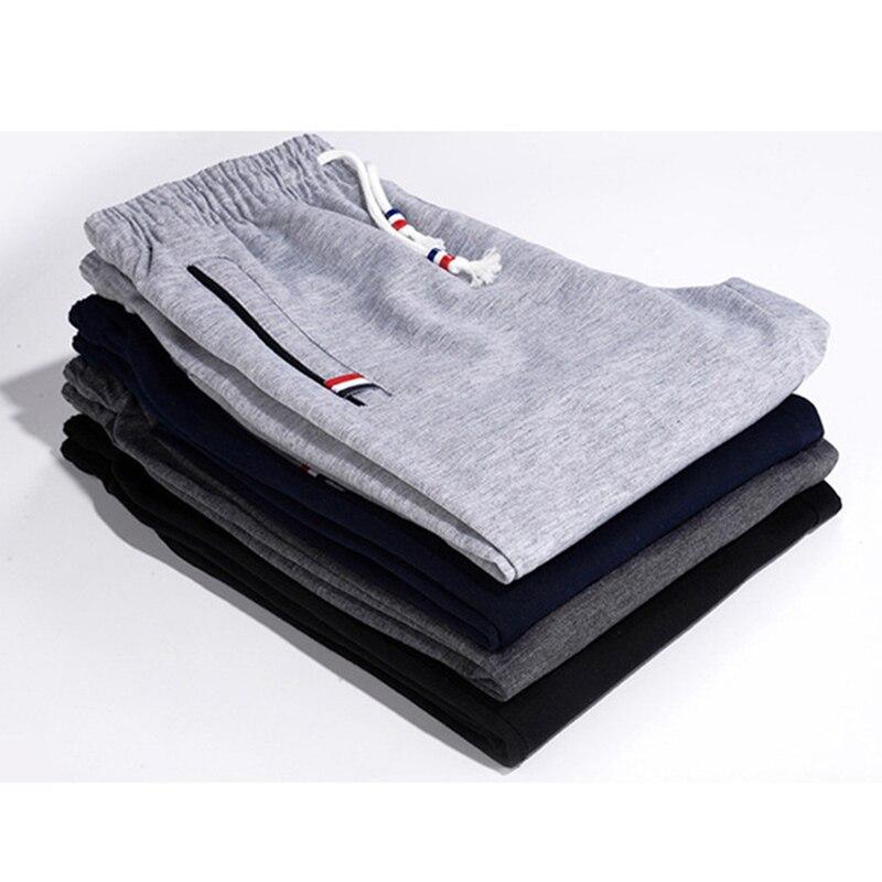 Calças de treino de fitness dos homens de algodão elástico calças de treino calças de treino de fitness calças de treino de treino calças basculante harem 6xl