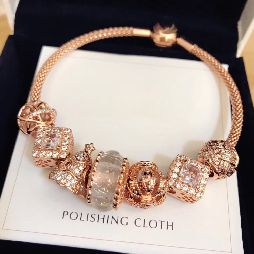 Original 100% 925 Silver Charm High Quality Rose Gold Christmas Tree Women Charm Copy Jewelry For Women 1:1 With Logo BraceletOriginal 100% 925 Silver Charm High Quality Rose Gold Christmas Tree Women Charm Copy Jewelry For Women 1:1 With Logo Bracelet