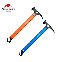 Outdoor Camping Tent Peg Stake Hammer Nail Puller Extractor Multifunctional Tool With Aluminum Handle