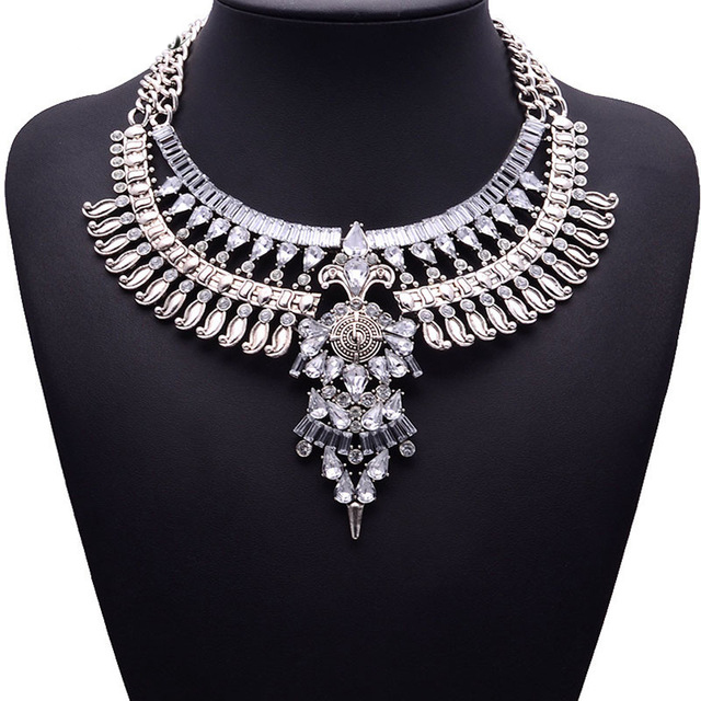 HTB11ZUPaJfvK1RjSspfq6zzXFXaJ - Miwens Collar Za Necklaces Pendants Vintage Crystal Maxi Choker Statement Silver Color Collier Necklace Boho Women Jewelry