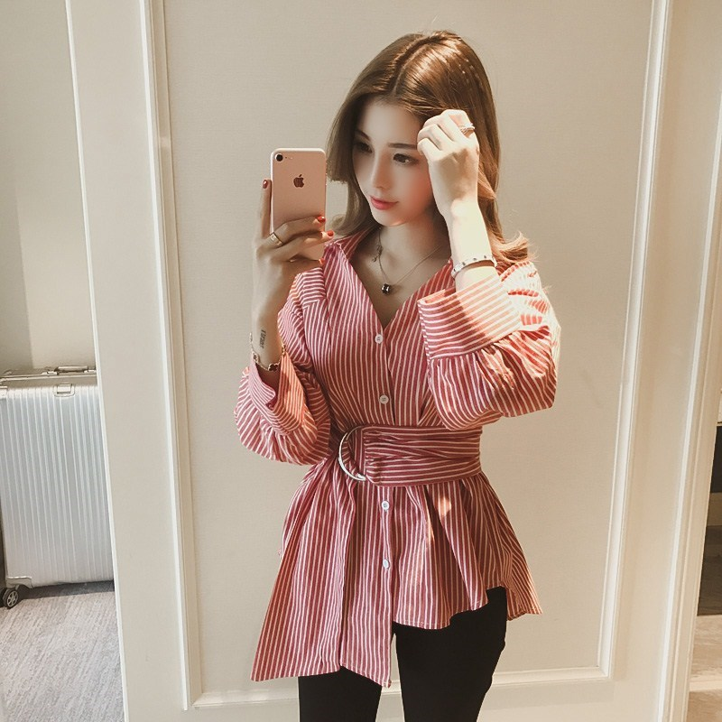 2019 fashion sweet plaid women   blouse     shirt   summer half sleeve v neck slim thin ladies tops casual women clothing blusas