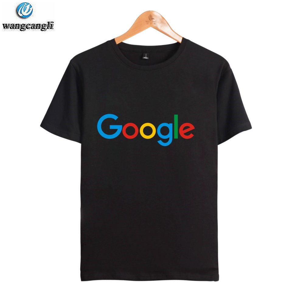Google Tshirt T Shirt Casual Summer Google Clothing Google Print O-neck Cotton Google Logo T-shirt Short Sleeve T Shirts Tops
