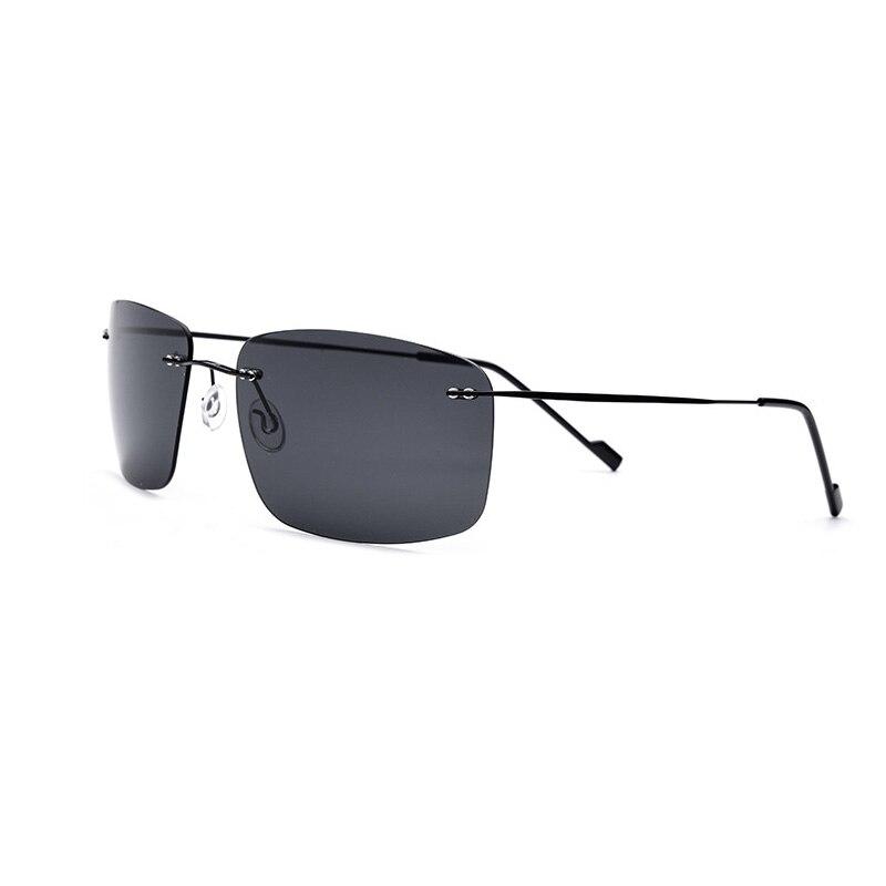 Новые люксовые бренды HD поляризованные Для мужчин Драйвер солнцезащитные очки Ultra Light Титан сплав Высочайшее качество очки UV400 Высокое каче...