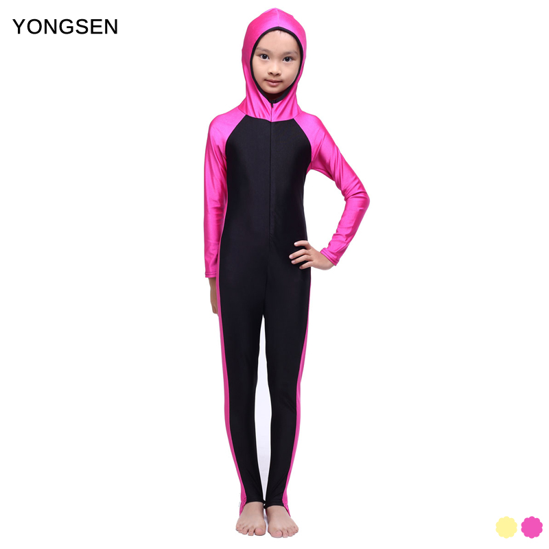 YONGSEN Islamski strój kąpielowy Muzułmański strój kąpielowy Dziewczęta Hidżab Pełny zasięg Stroje kąpielowe Islamski strój kąpielowy Stroje kąpielowe Burkinis
