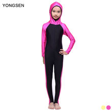 YONGSEN Islamic Swimwear Muslim Swimsuit Girls Hijab Full Coverage Swimwear Islamic Swim Beachwear Burkinis