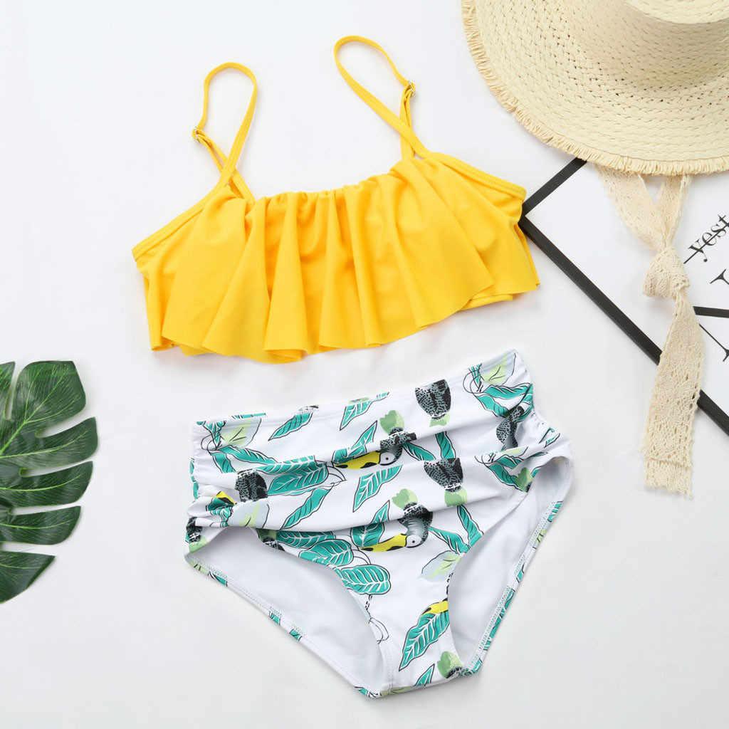 Wanita Pakaian Renang 2019 Seksi Bikini Baju Renang Wanita Cetak Floral Surf Sesuai Rawan Baju Renang Pakaian Renang Dua Wpiece Beachwear