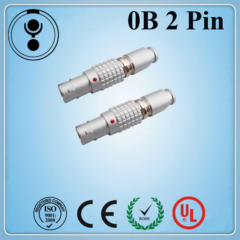 LEMO Connector Plug,2 Pins Circular Male Adpator,cross LEMO 0B Series FGG.0B.302 2pin Camera Connector Plug For Teradek Bond