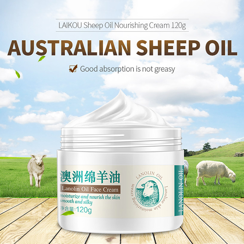 LAIKOU Sheep oil Essence Nourish Cream Moisturizing Cream Improve Dry Face Skin Care Whitening Facial Care Face Cream 120g image