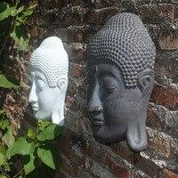 Garden Creative resin buddha head statue parlor vintage statue home decor crafts room decoration wall Decorative buddha figurine