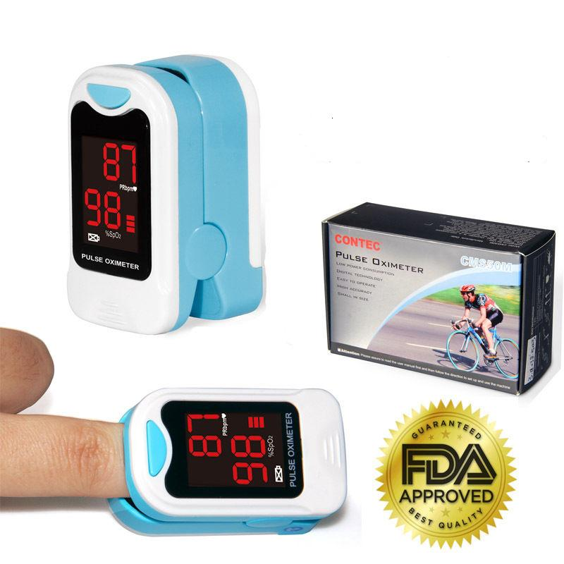 CONTEC CMS50M Finger Pulse Oximeter Portable Heart Rate SPO2 Monitor Blood Oxygen Meter Sensor