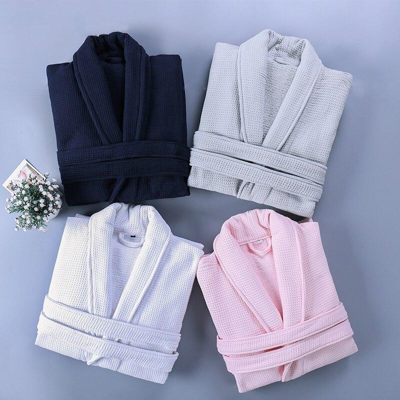 Hommes femmes peignoir hiver longue chaude Robe de bain épaissir coton hommes doux Robe de chambre mâle Sexy Kimono Robes de demoiselle d'honneur